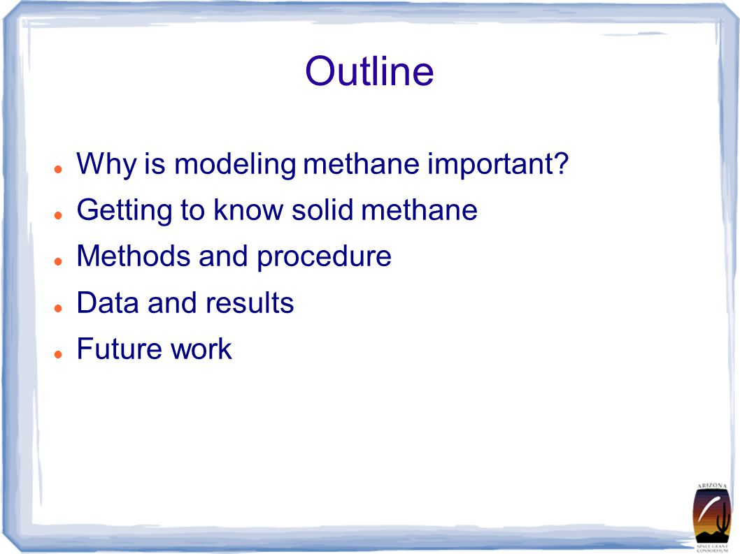 Outline Why is modeling methane important.