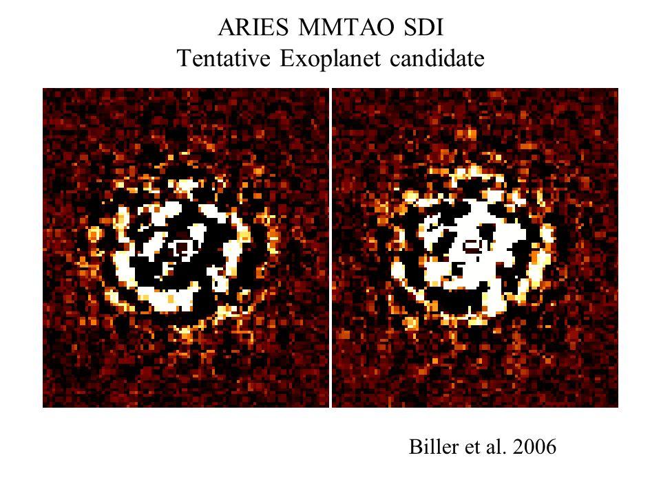 ARIES MMTAO SDI Tentative Exoplanet candidate Biller et al. 2006