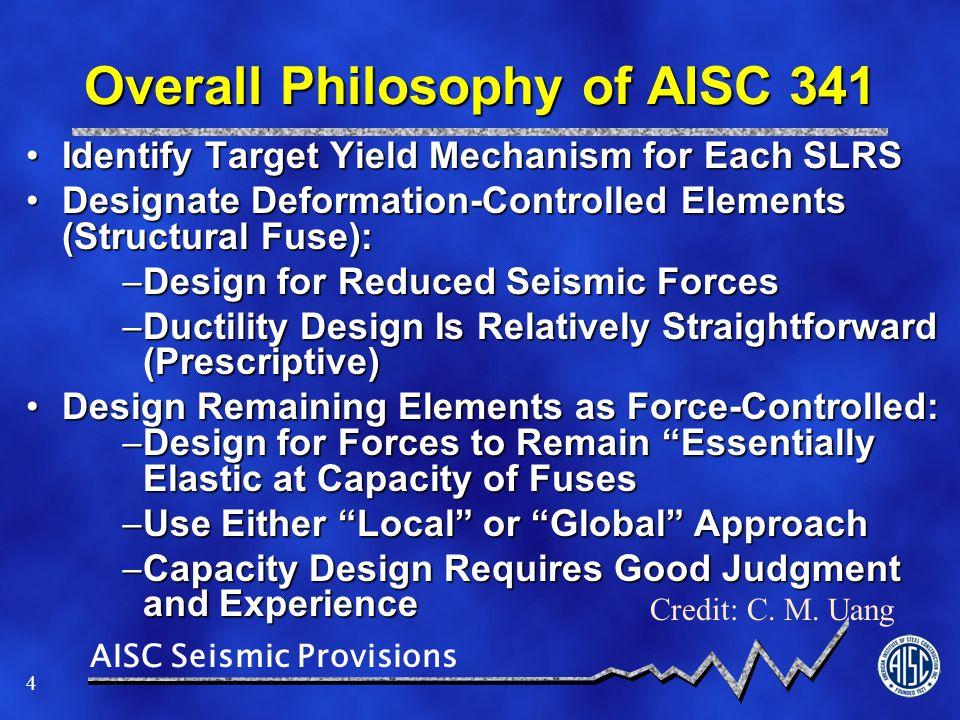 AISC Seismic Provisions 15 Scope Statement / Gen'l Req'ts.
