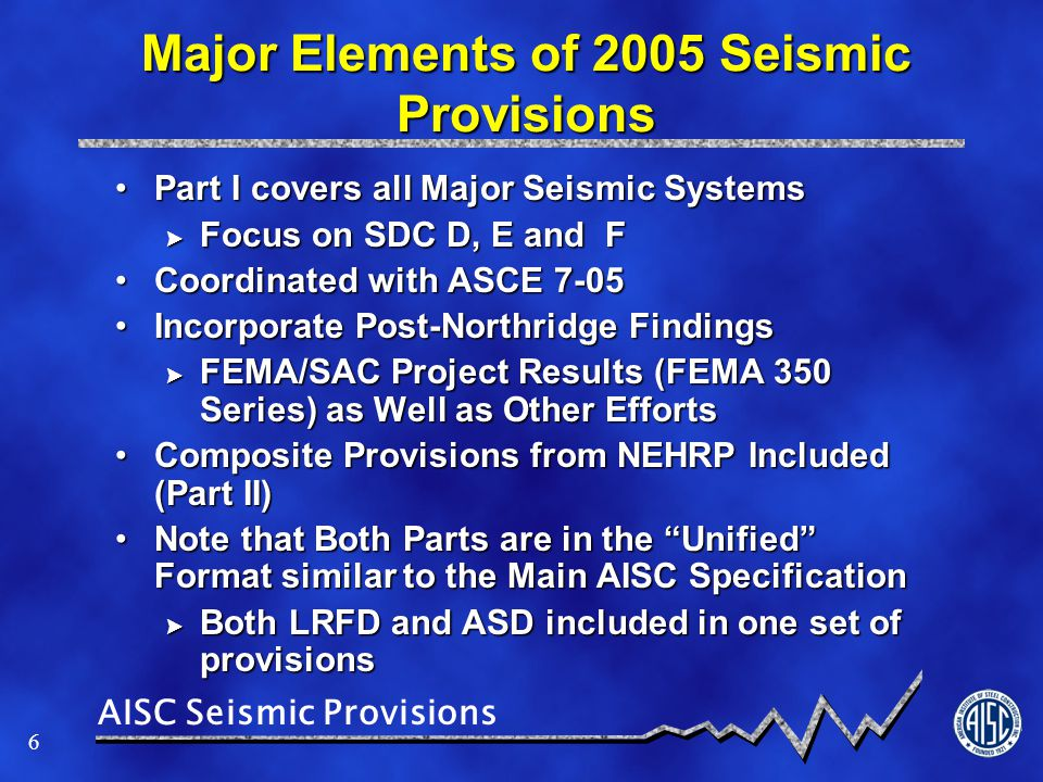 AISC Seismic Provisions 7 Summary of Major Changes in AISC 341-10 Re-organized to be More Consistent with AISC 360-10Re-organized to be More Consistent with AISC 360-10 Format for Various Systems Have Been StandardizedFormat for Various Systems Have Been Standardized Incorporates AWS D1.8Incorporates AWS D1.8 Puts Composite Construction on the Same Footing as Steel (No more Parts I and II)Puts Composite Construction on the Same Footing as Steel (No more Parts I and II) Adds Two New Cantilever Column SystemsAdds Two New Cantilever Column Systems Developing design/analysis provisions explicitly follow capacity design approach for ALL systemsDeveloping design/analysis provisions explicitly follow capacity design approach for ALL systems Updates to member and system requirementsUpdates to member and system requirements Coordinated with ASCE 7-10.