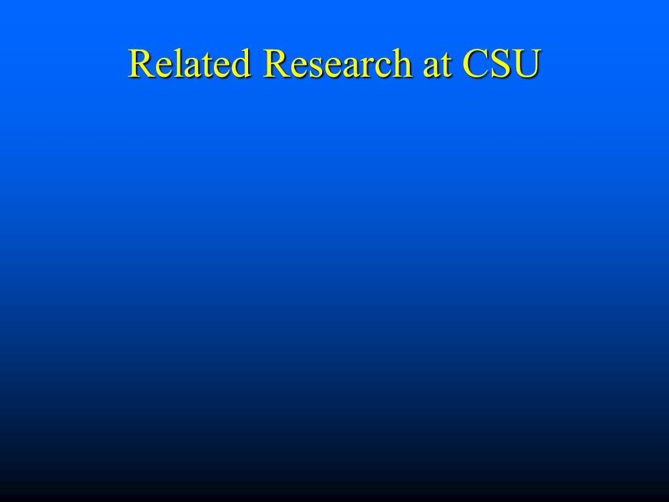 Related Research at CSU