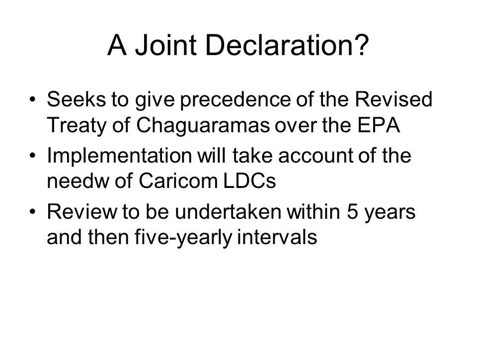 A Joint Declaration.