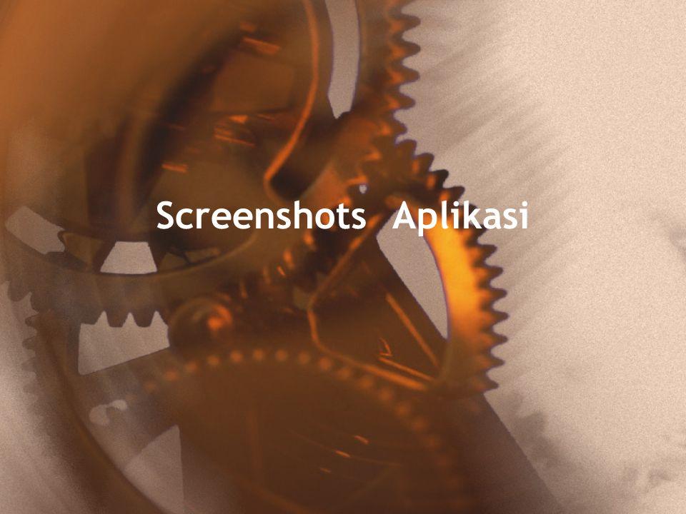 Screenshots Aplikasi