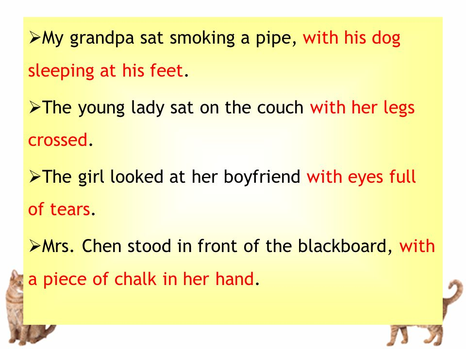  My grandpa sat smoking a pipe, with his dog sleeping at his feet.