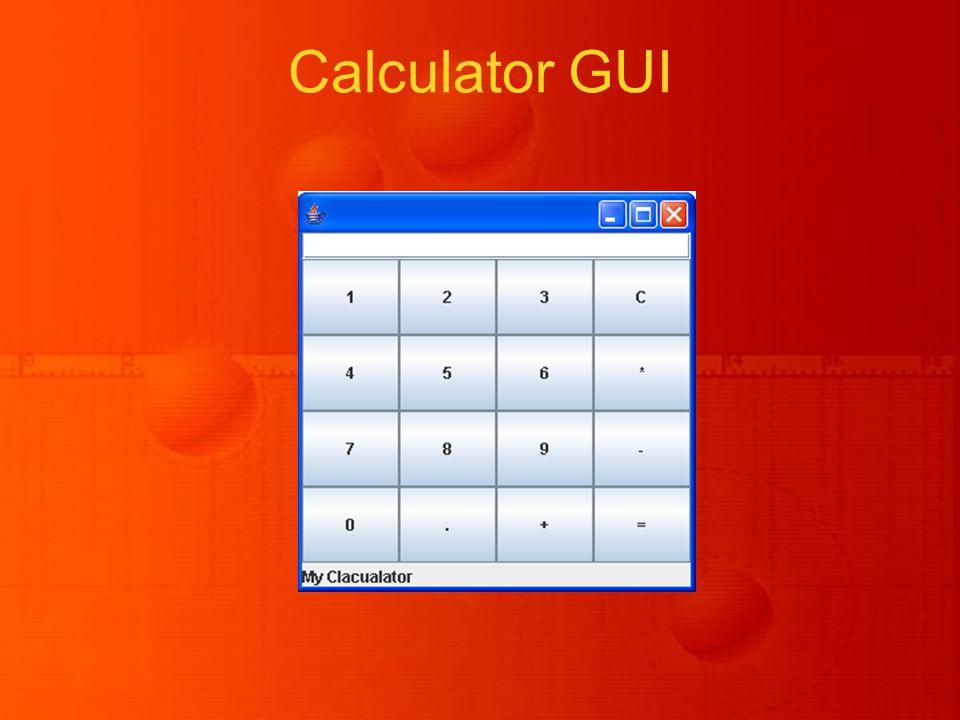 Calculator GUI