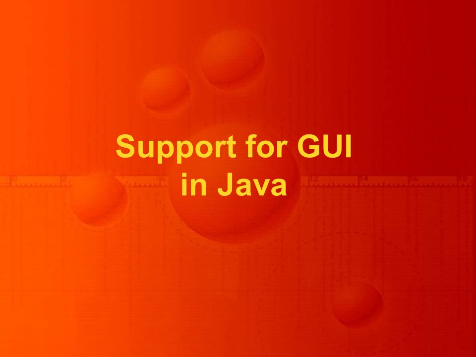 Support for GUI in Java