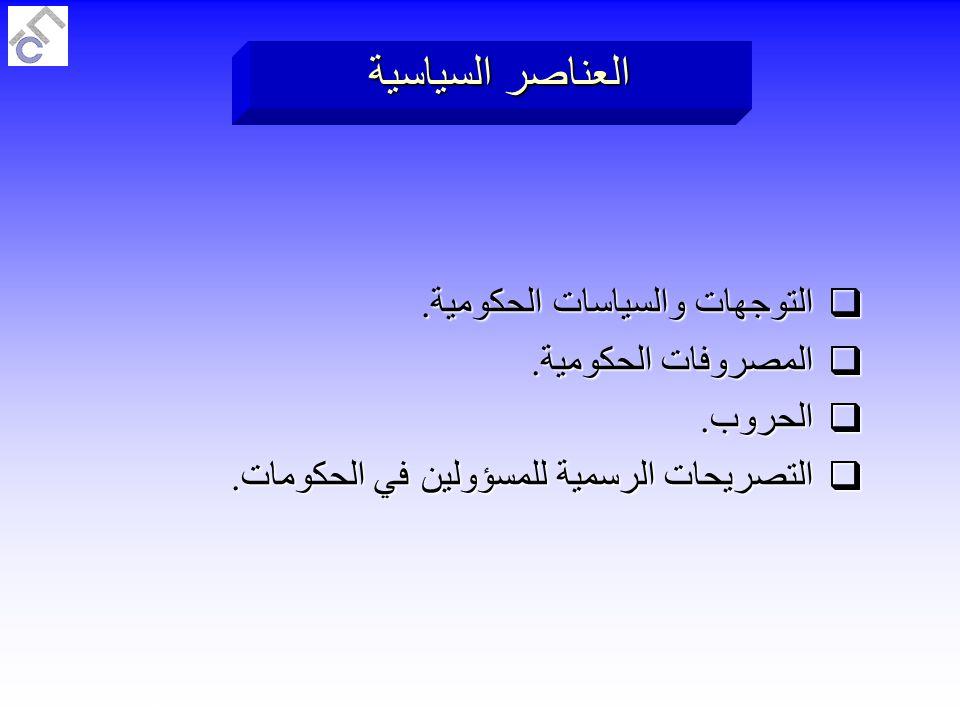 Al Faraj Consulting W.L.LSlide 132 of 189 العناصر السياسية  التوجهات والسياسات الحكومية.