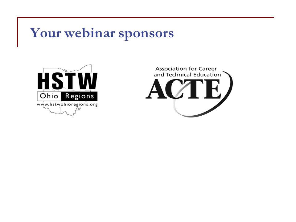 Your webinar sponsors