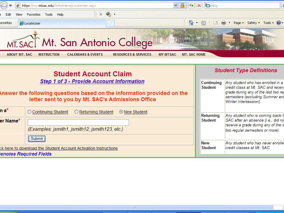 3 step Account Claim