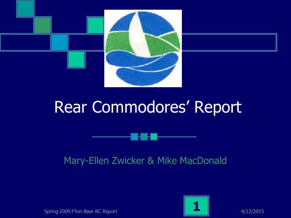 4/12/2015Spring 2009 F'ton Base RC Report 22 Assuming a Custom Mooring Line at surface at upper wharf less 1 meter Marking sizes on mooring balls.