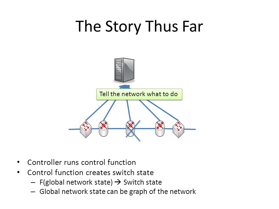 Kandoo to the SDN Programmer Think of what is local and what is global – When apps are written, annotate with local flag Kandoo will automatically place local – And place global.