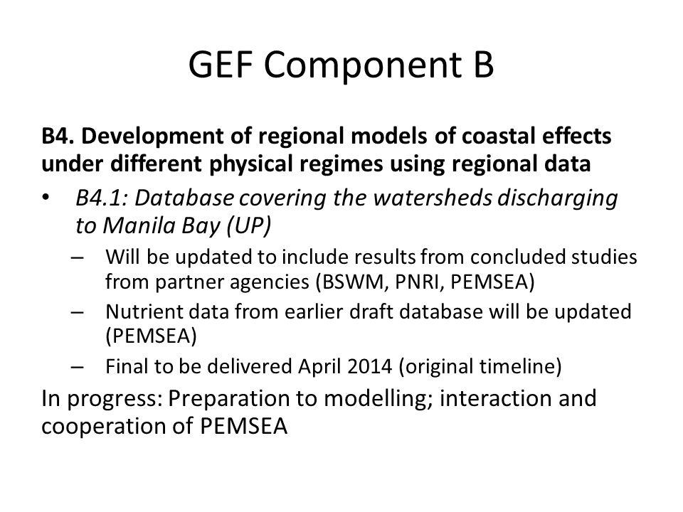 GEF Component B B4.