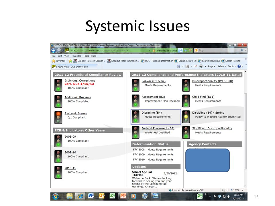 Systemic Issues 16