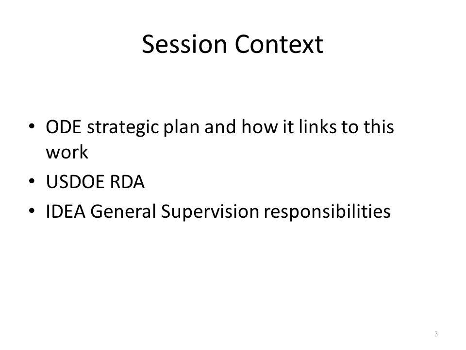 IDEA/General Supervision SPR&I Training MaterialsSPR&I Training Materials: Standards Indicators Consideration 4
