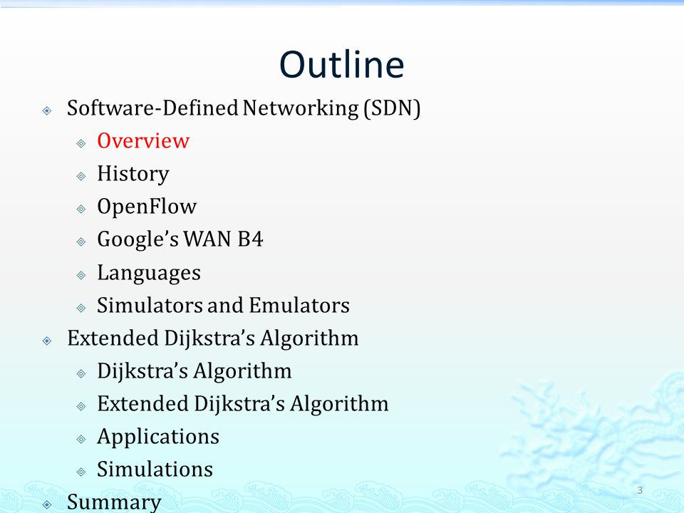 OpenFlow Controller & Switch Source: Open Networking Foundation What paper, 2012 14