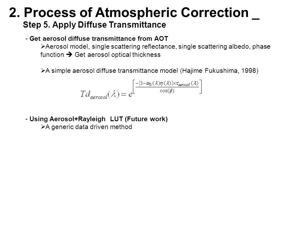 2. Process of Atmospheric Correction _ Step 5.