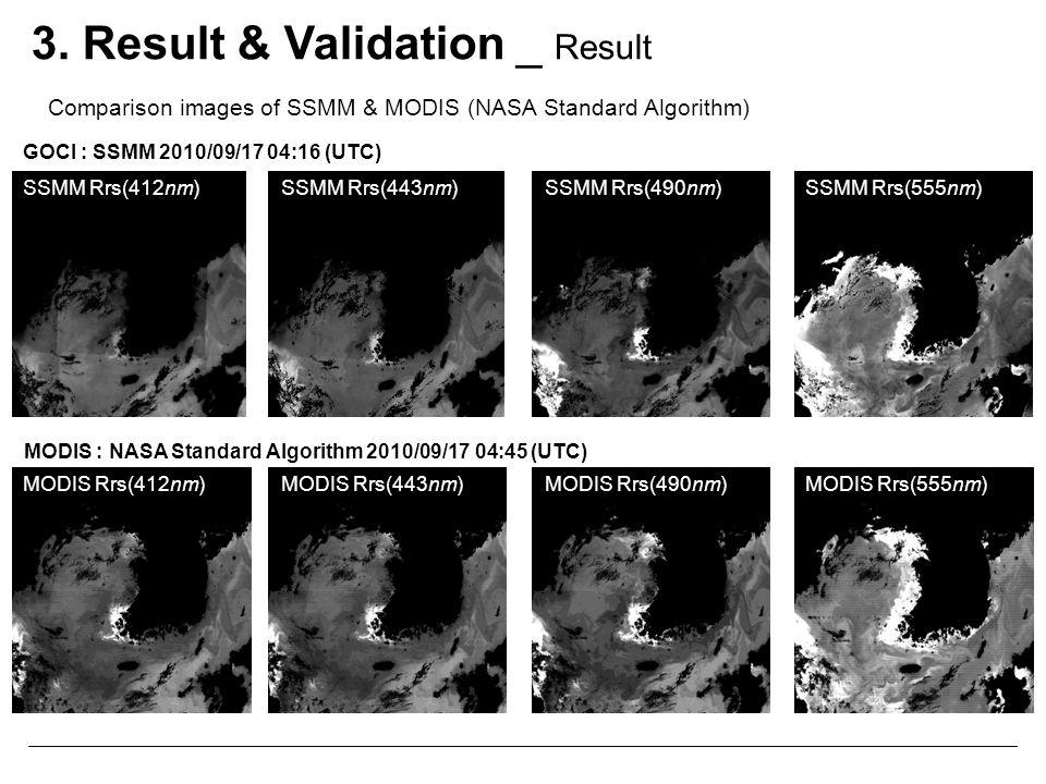 SSMM Rrs(412nm)SSMM Rrs(443nm)SSMM Rrs(490nm)SSMM Rrs(555nm) MODIS Rrs(412nm)MODIS Rrs(443nm)MODIS Rrs(490nm)MODIS Rrs(555nm) GOCI : SSMM 2010/09/17 0