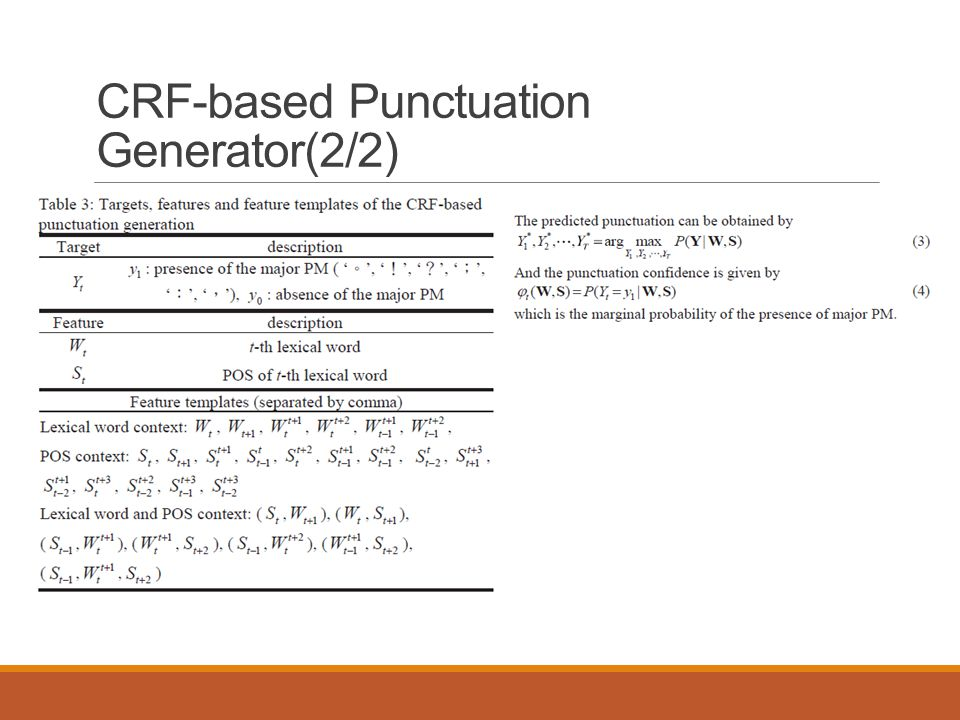 CRF-based Punctuation Generator(2/2)