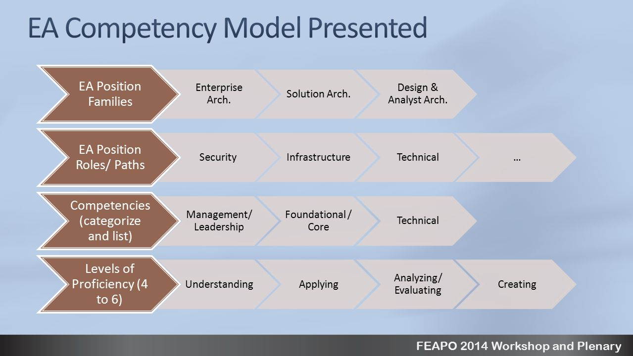 FEAPO 2014 Workshop and Plenary EA Position Families Enterprise Arch.