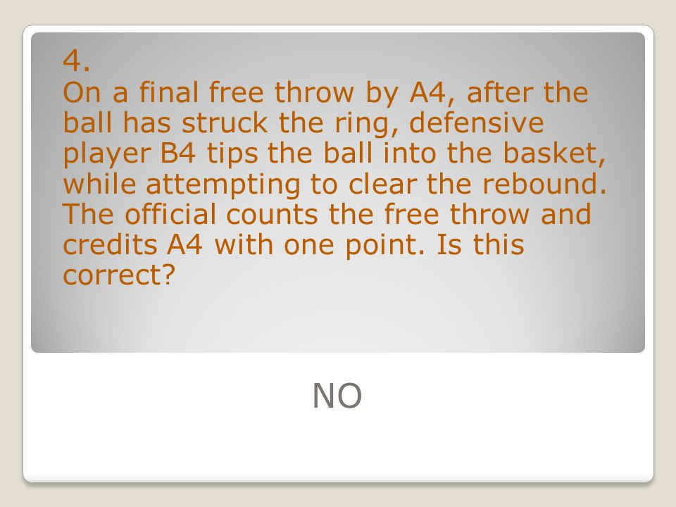 10.A5 attempts a 3-point field goal near the end of a period.