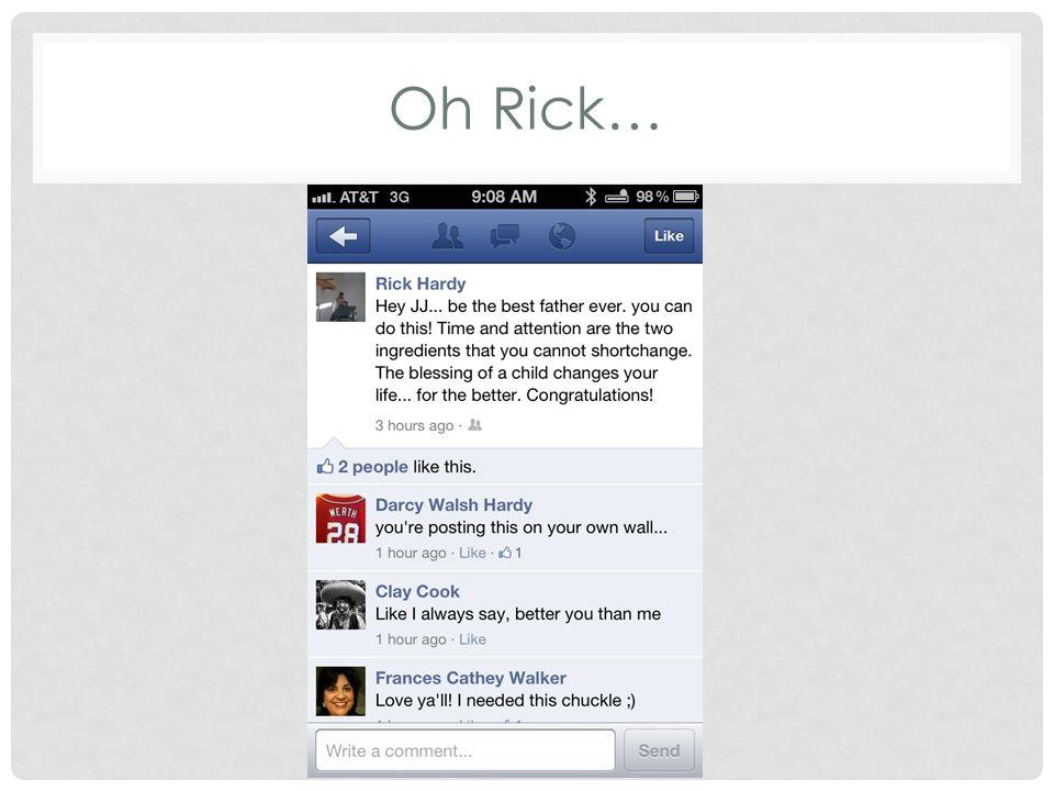Oh Rick…