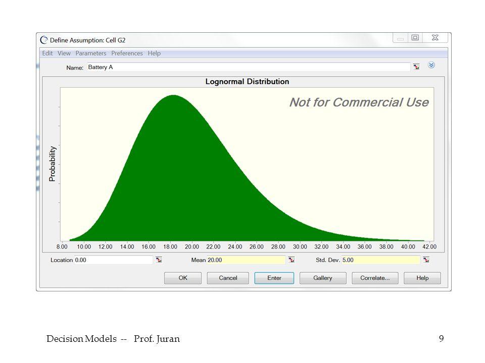 Decision Models -- Prof. Juran9