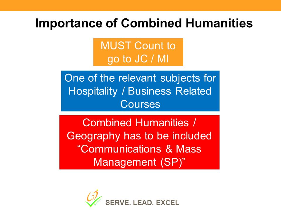 """Importance of Combined Humanities MUST Count to go to JC / MI Combined Humanities / Geography has to be included """"Communications & Mass Management (SP"""