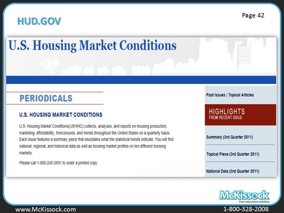 www.Mckissock.com www.McKissock.com 1-800-328-2008 HUD.GOV Page 42