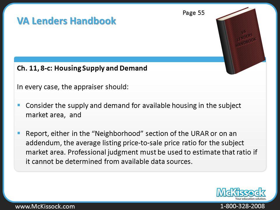 www.Mckissock.com www.McKissock.com 1-800-328-2008 VA Lenders Handbook Ch.