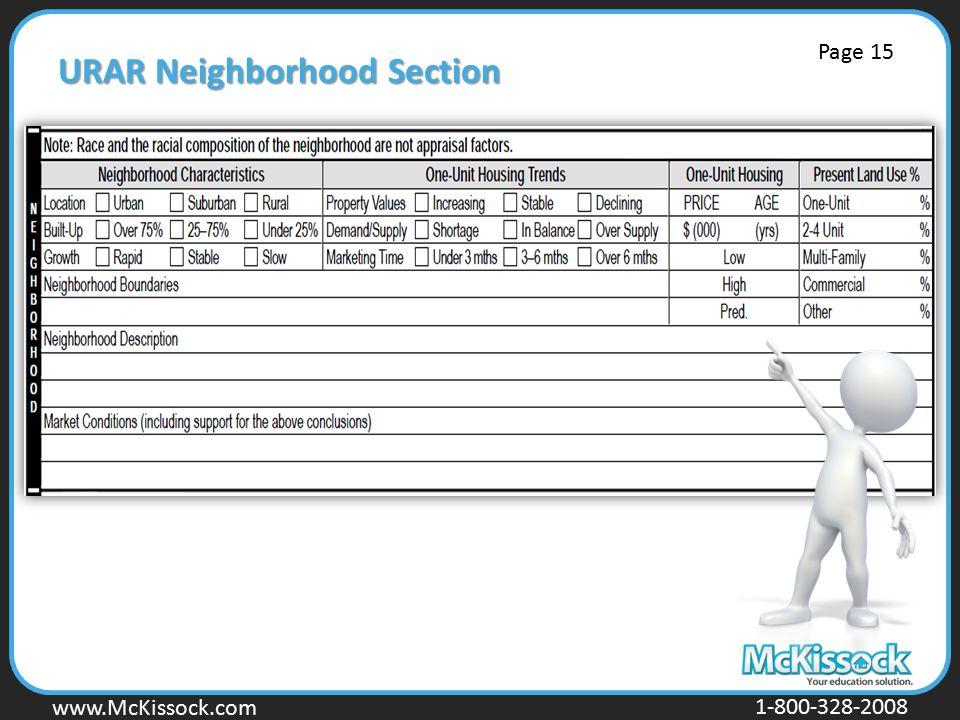 www.Mckissock.com www.McKissock.com 1-800-328-2008 URAR Neighborhood Section Page 15