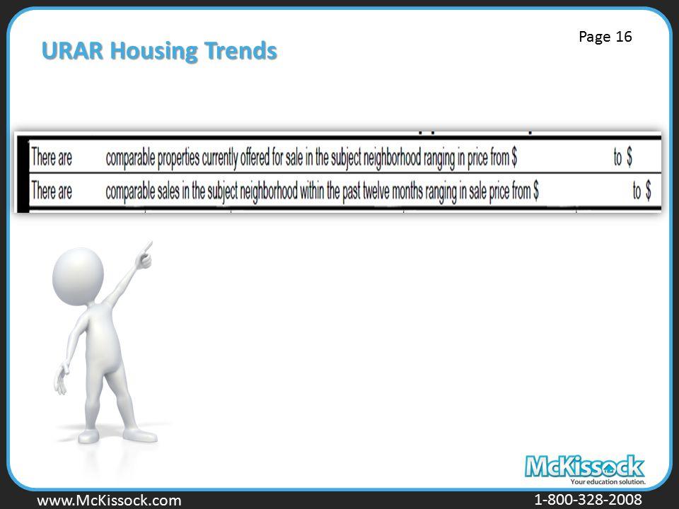 www.Mckissock.com www.McKissock.com 1-800-328-2008 URAR Housing Trends Page 16