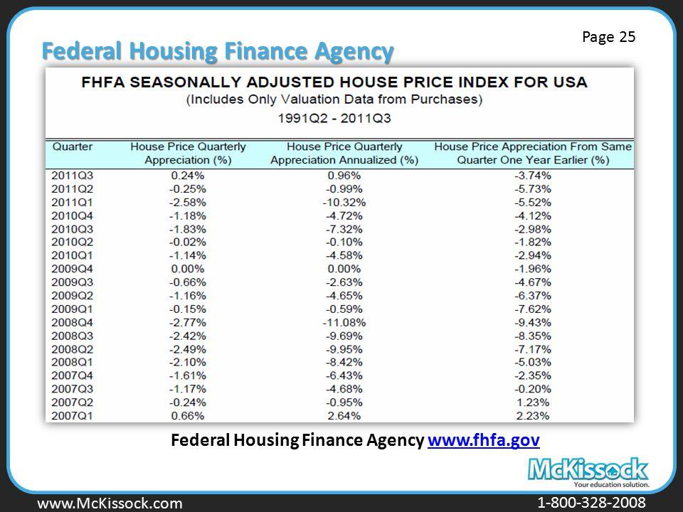 www.Mckissock.com www.McKissock.com 1-800-328-2008 Federal Housing Finance Agency Federal Housing Finance Agency www.fhfa.govwww.fhfa.gov Page 25