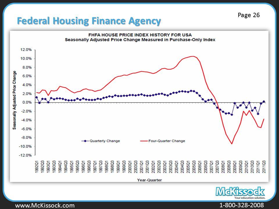 www.Mckissock.com www.McKissock.com 1-800-328-2008 Federal Housing Finance Agency Page 26