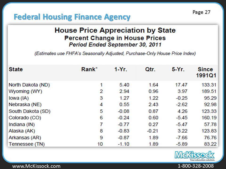 www.Mckissock.com www.McKissock.com 1-800-328-2008 Federal Housing Finance Agency Page 27