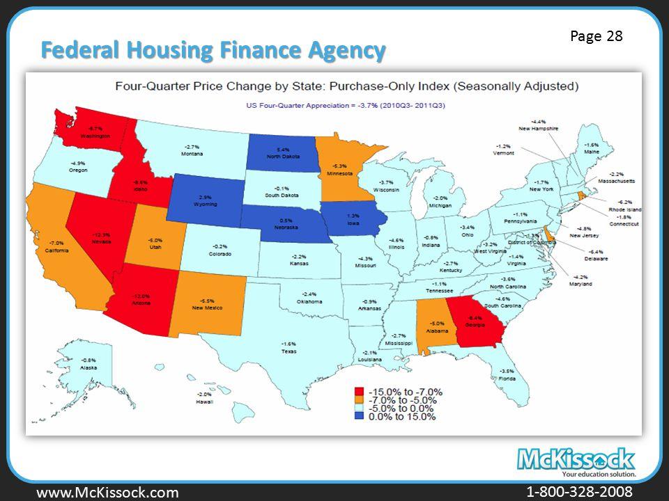 www.Mckissock.com www.McKissock.com 1-800-328-2008 Federal Housing Finance Agency Page 28
