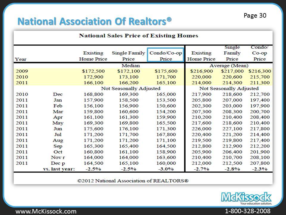 www.Mckissock.com www.McKissock.com 1-800-328-2008 National Association Of Realtors® Page 30