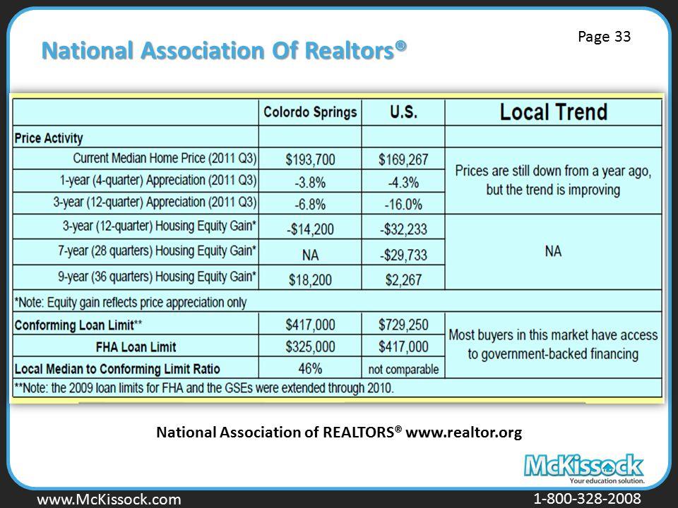 www.Mckissock.com www.McKissock.com 1-800-328-2008 National Association Of Realtors® National Association of REALTORS® www.realtor.org Page 33
