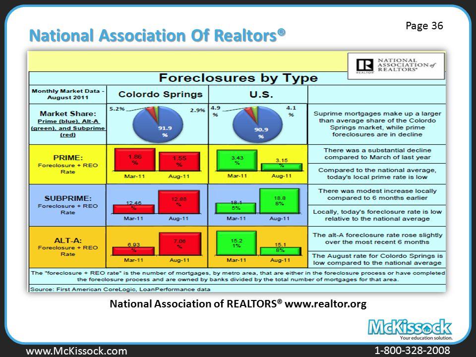 www.Mckissock.com www.McKissock.com 1-800-328-2008 National Association Of Realtors® National Association of REALTORS® www.realtor.org Page 36
