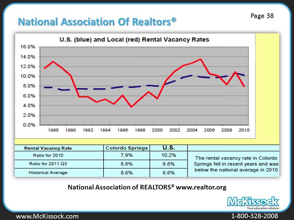 www.Mckissock.com www.McKissock.com 1-800-328-2008 National Association Of Realtors® National Association of REALTORS® www.realtor.org Page 38