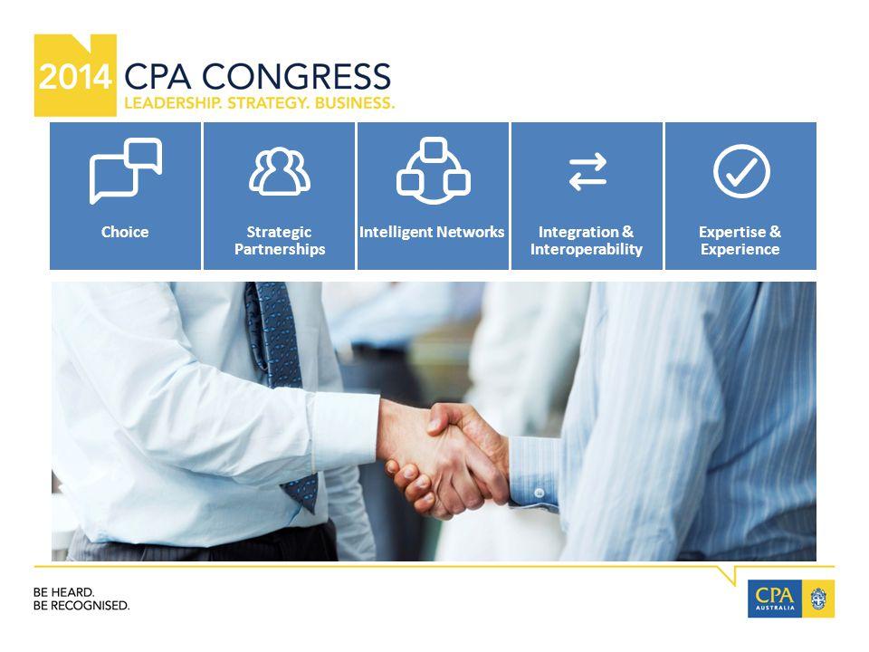 ChoiceStrategic Partnerships Intelligent NetworksIntegration & Interoperability Expertise & Experience
