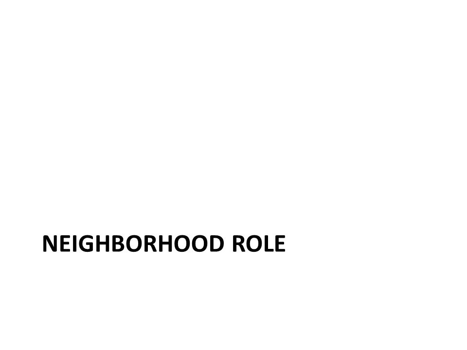 NEIGHBORHOOD ROLE