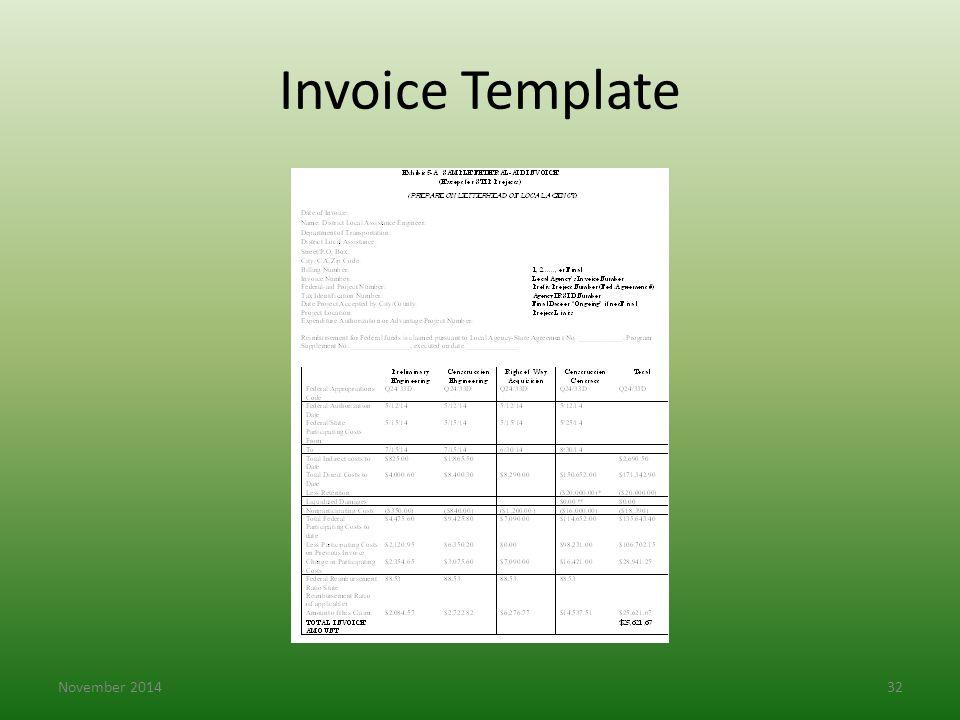 Invoice Template November 201432