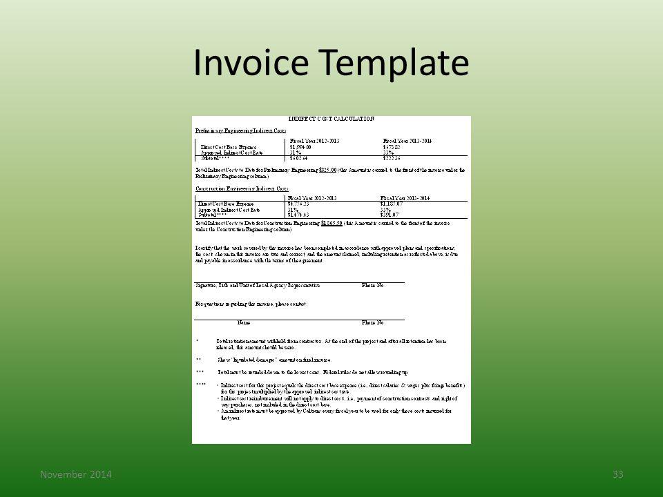 Invoice Template November 201433