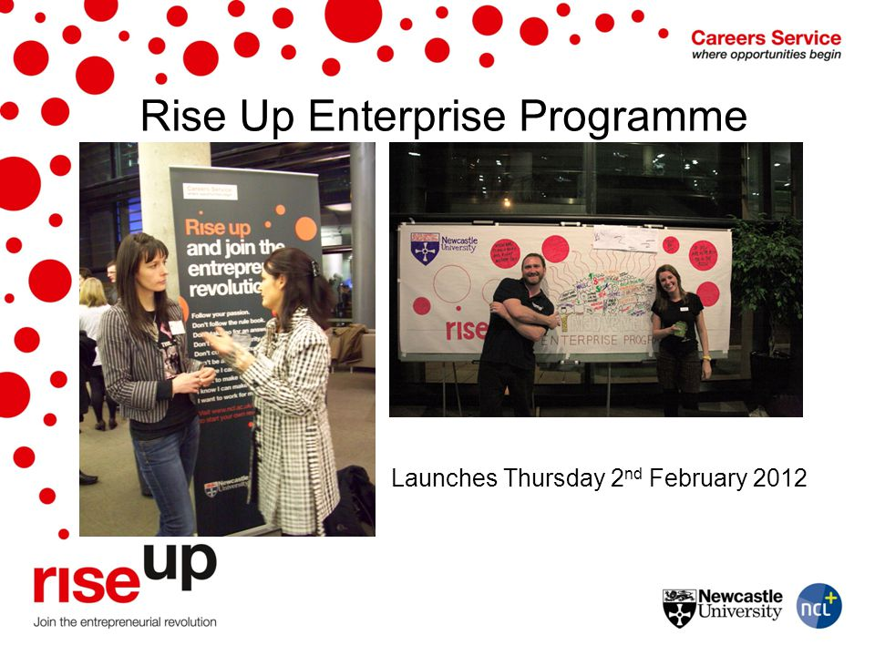Rise Up Enterprise Programme Launches Thursday 2 nd February 2012