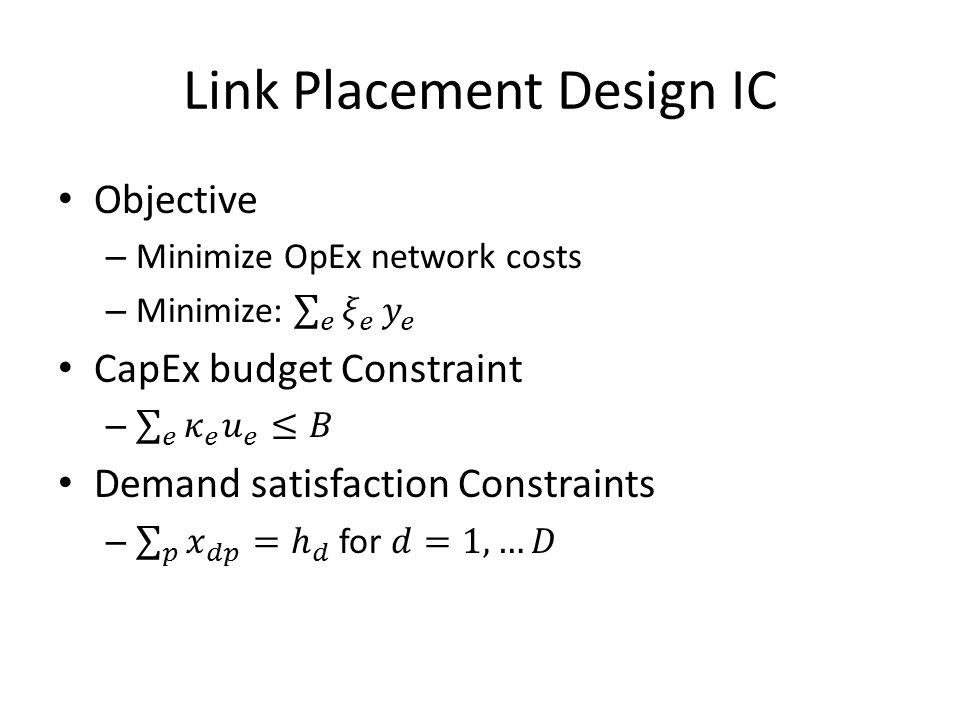 Link Placement Design IC