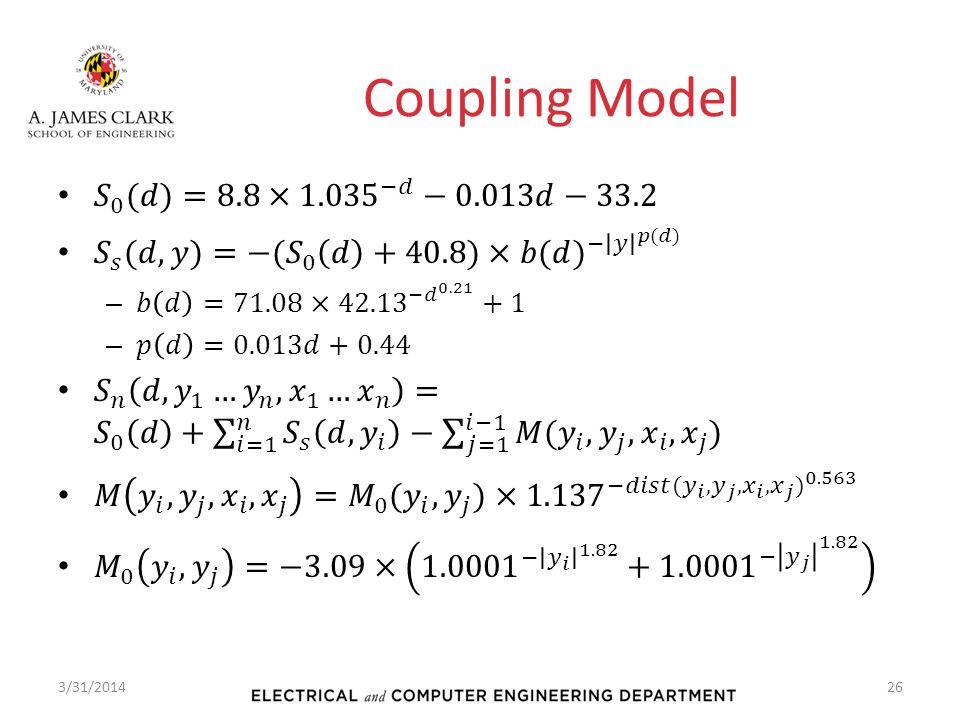 Coupling Model 3/31/201426