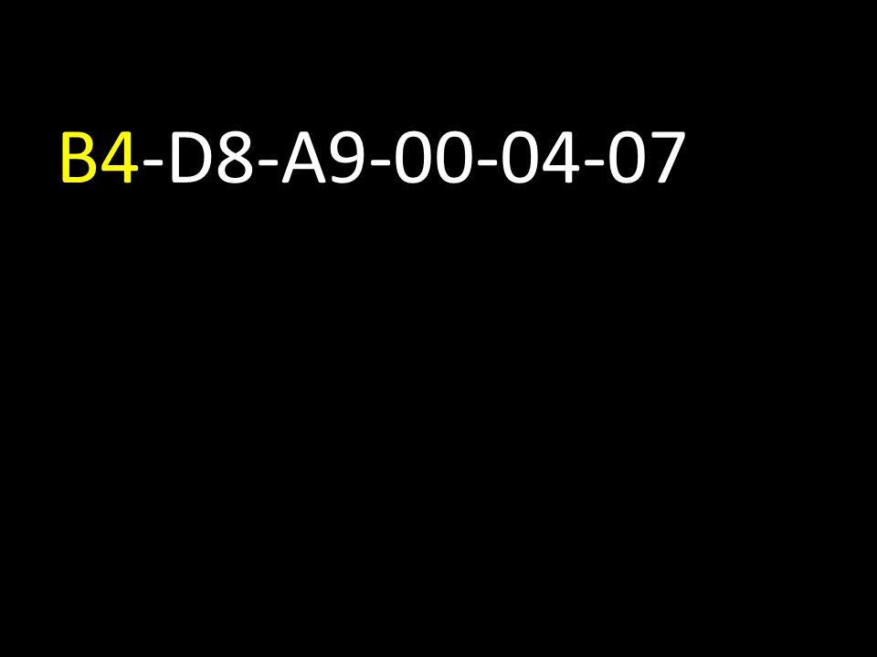 B4-D8-A9-00-04-07