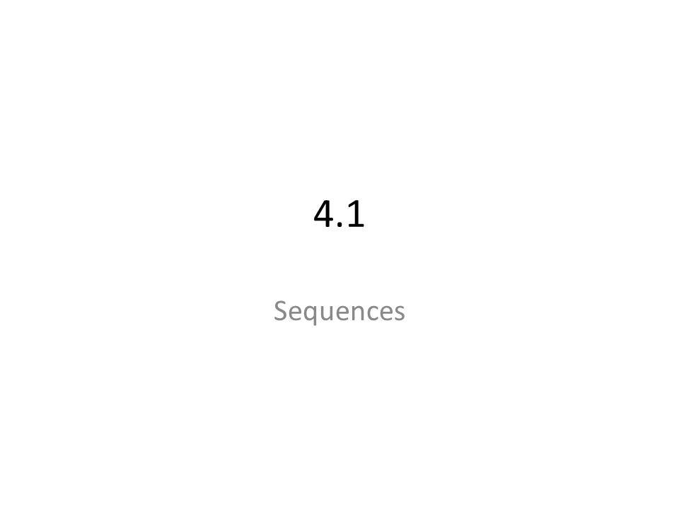 4.1 Sequences