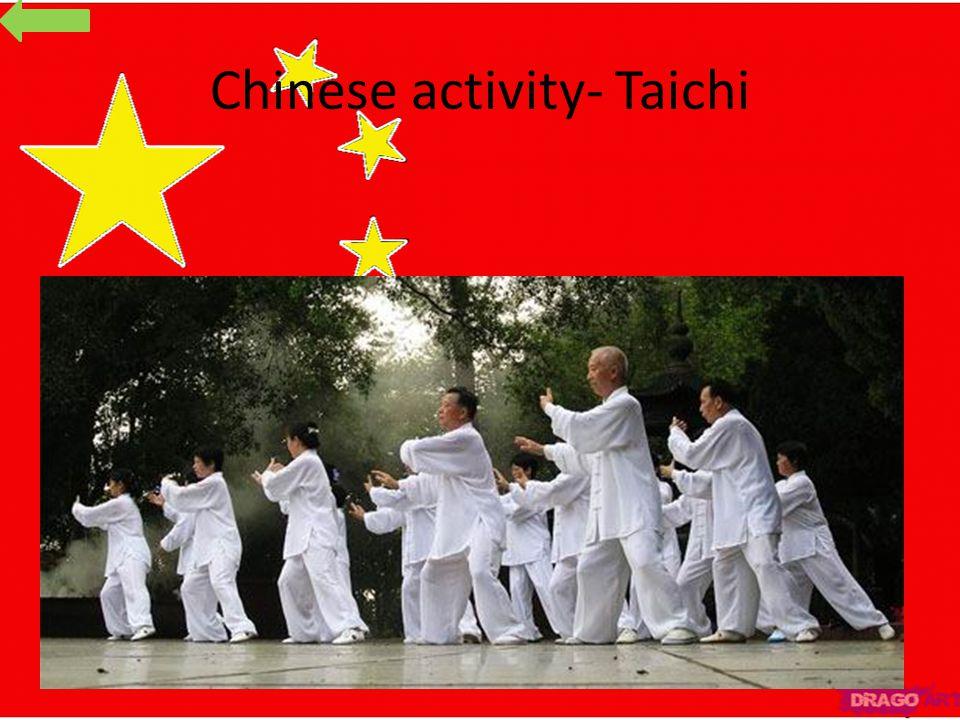 Chinese activity- Taichi