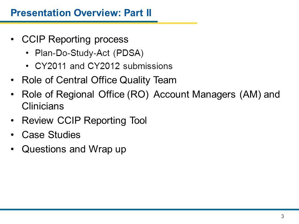 54 CCIP REPORTING PROCESS